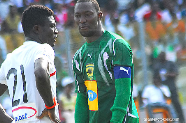 Kwabena Adusei, left, could join Hearts of Oak