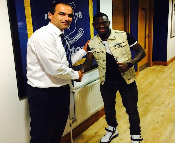 Roberto Martinez and Christian Atsu