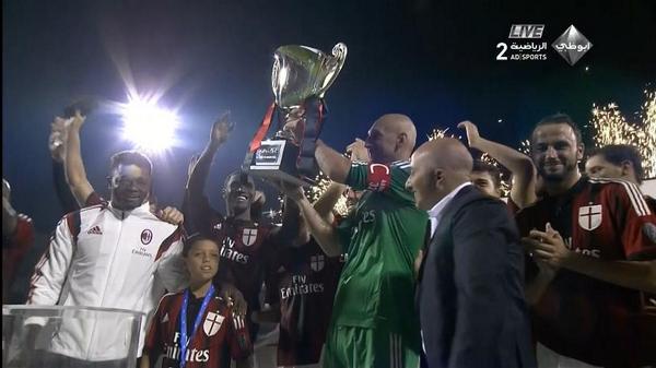 Milan celebrate