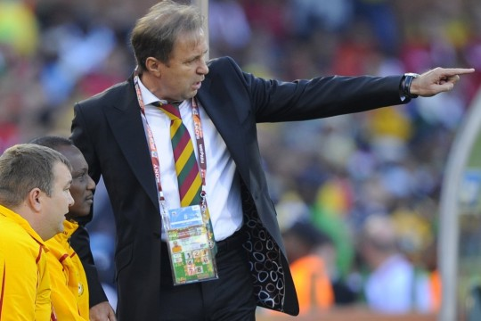 Milovan Rajevac coached Ghana at the 2010 World Cup