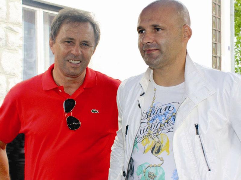 Milovan Rajevac with his ex agent Goran Milovanovic