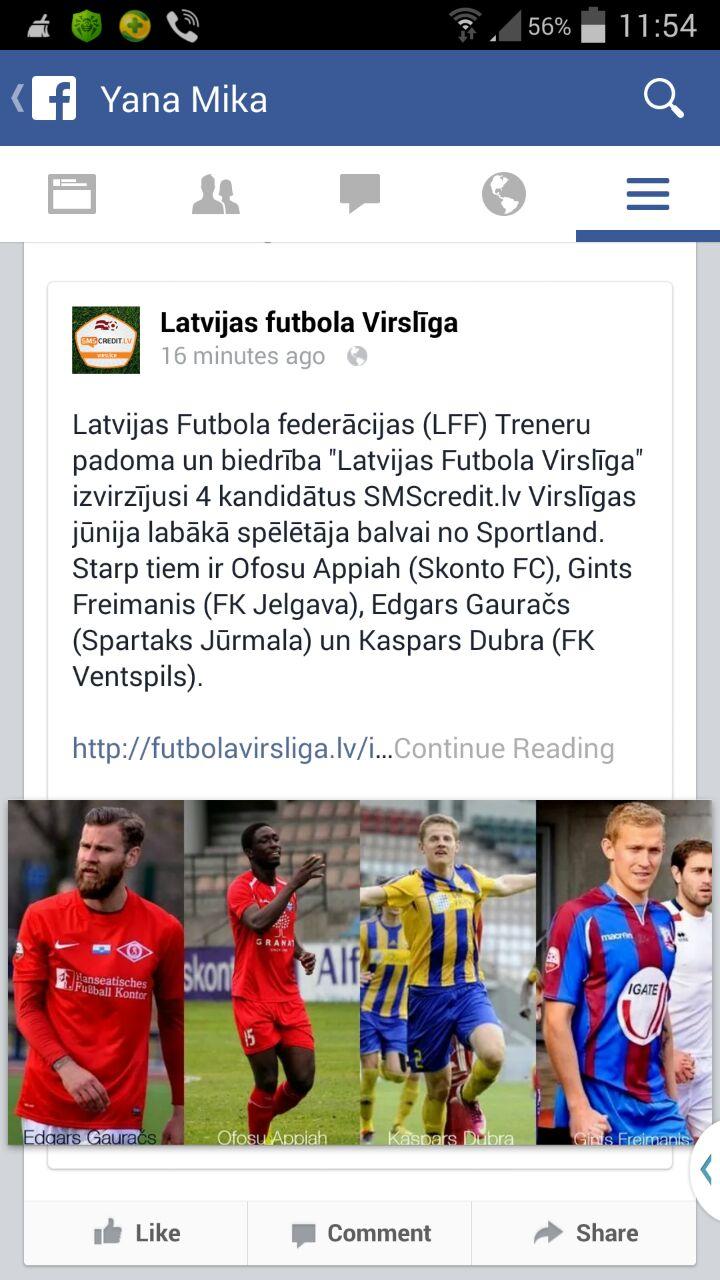 Ofosu Appiah is in top shape in Latvia