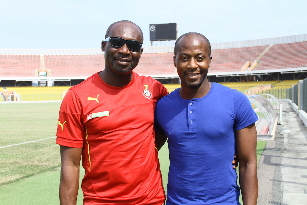 George Afriyie (left) and Ibrahim Tanko