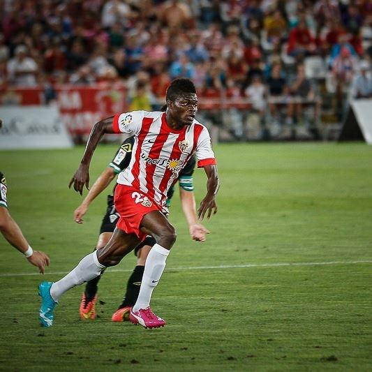 Thomas Partey marked his debut in the Almeria