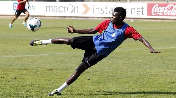 Thomas Partey trains with Almeria squad in Thailand