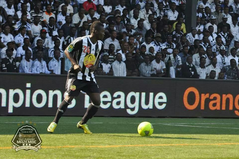 Yaw Frimpong in action for TP Mazembe