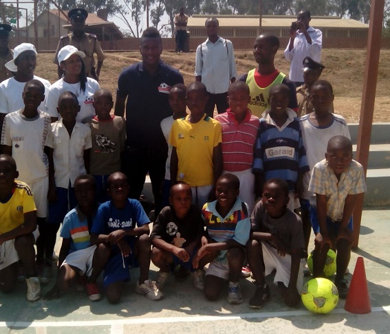 Ghana captain Asamoah Gyan hosted a soccer clinic at the Blantyre Youth Center