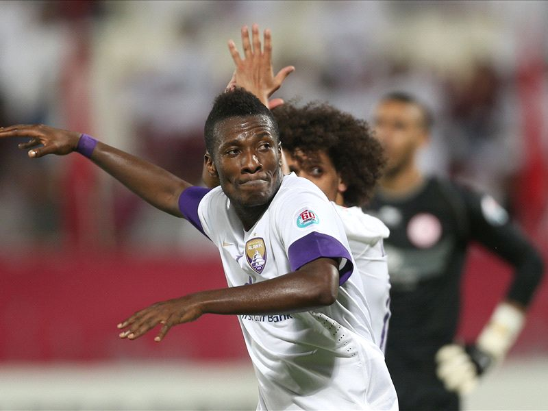 Asamoah Gyan scored Al Ain's equalizer on Tuesday night