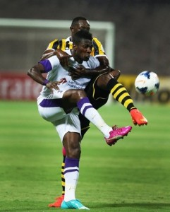 Watch video of Ghana striker Asamoah Gyan scoring a classic goal to steer Al Ain to the semi-finals of the Asian Champions League.