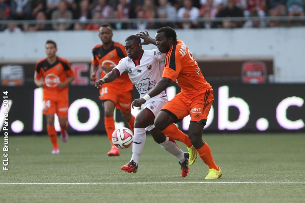 Jordan Ayew played his first Ligue 1 match for Lorient on Saturday.