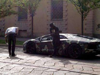 'Racist' Italian police stop and search Ghana star Muntari over plush Lamborghini car