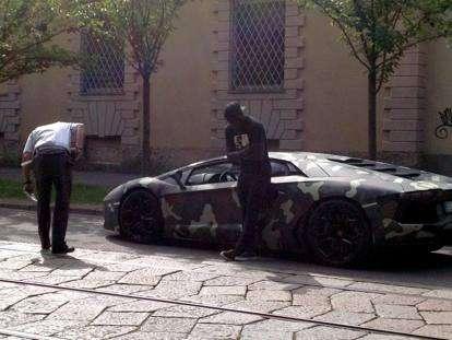'Racist' Italian police stop and search Ghana star Muntari over plush Lamborghini car