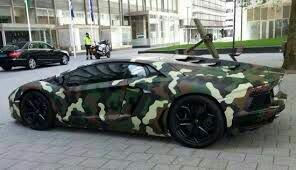 Muntari's lamborghini is an attraction to many people