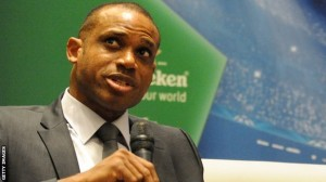 "Carlo Tavecchio's appointment as Italian Football Federation president represents a ""dark day for football"", says ex-Nigeria player Sunday Oliseh."