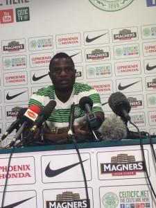 Ghana midfielder Mubarak Wakaso was unveiled by Celtic on Thursday