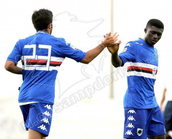 Alfred Duncan scored the third goal for Sampdoria