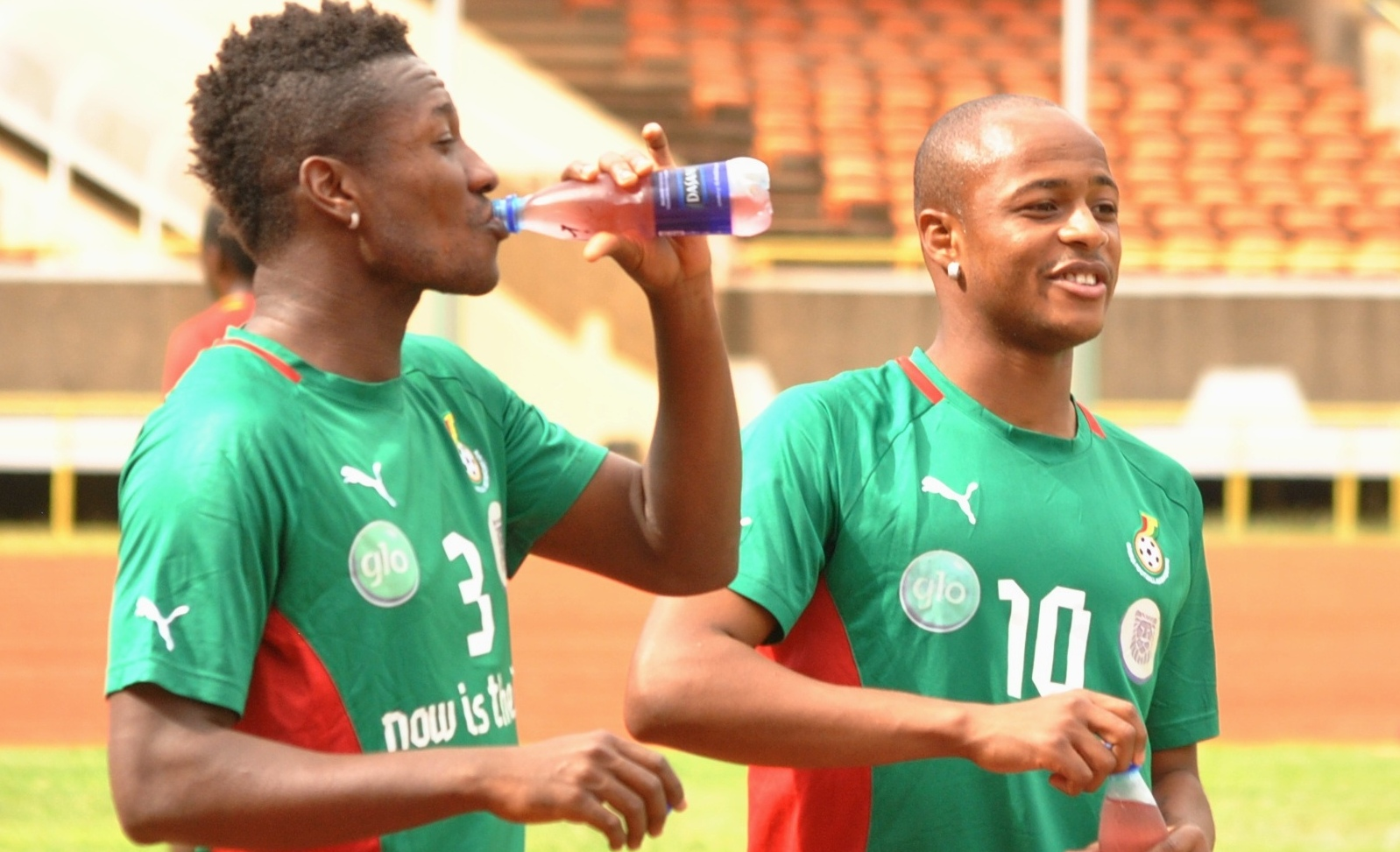 Andre Ayew joined the Ghana camp on Wednesday afternoon
