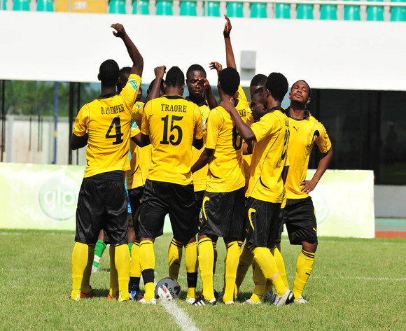 AshGold team during the GHALCA G8 CUP  at the Essipong Stadium in Takoradi, Ghana© Christian Thompson/Backpagepix Western