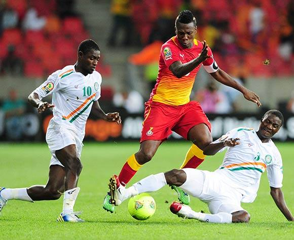 Asamoah Gyan in action