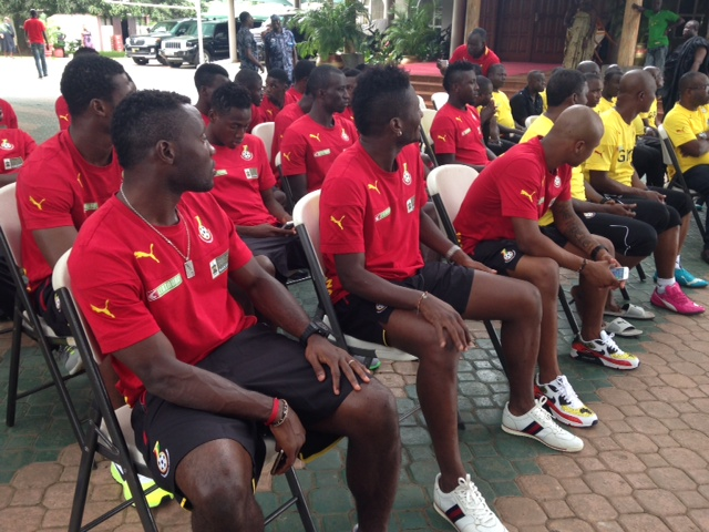 Black Stars players at Manhyia