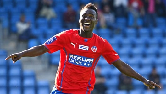 David Accam netted a brace for Helsingborg on Monday night