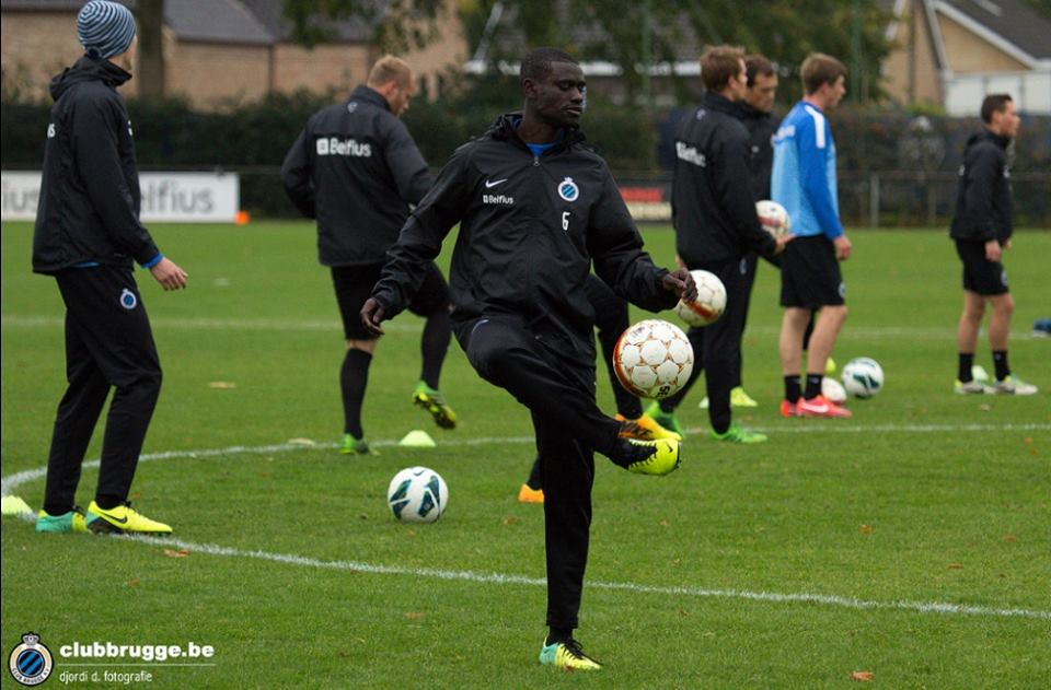 Enoch Adu Kofi training ahead of Malmo's clash with Juventus in the Uefa Champions League on Tuesday night