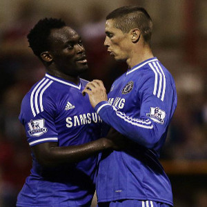 Fernando Torres has linked with Michael Essien again