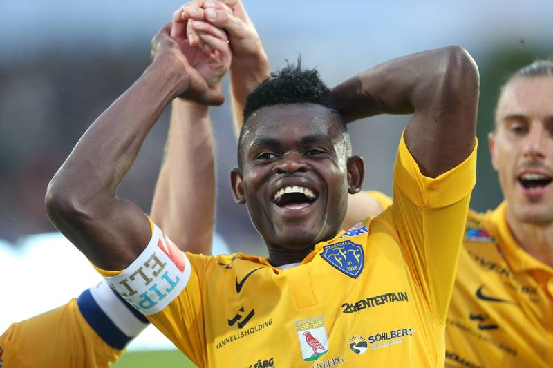 Godsway Donyoh scored for Falkenberg but they lost