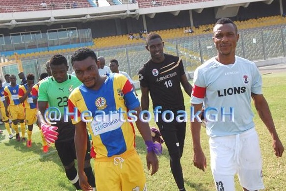 Hearts' clash with Lions was abandoned