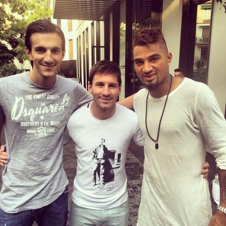 Image result for messi and kevin prince boateng