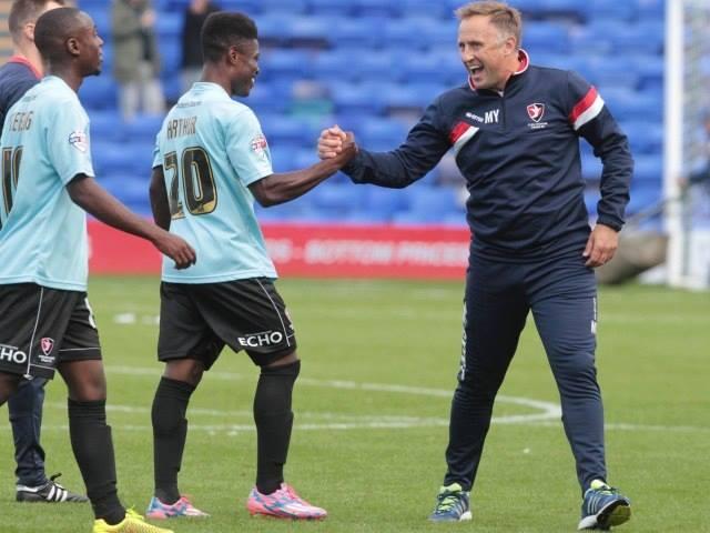 Ghanaian midfielder Koby Arthur scores winner for Macclesfield FC in Checkatrade Trophy