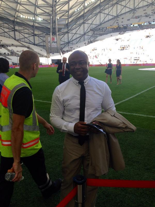 Abedi Pele at the Stade Velodrome.