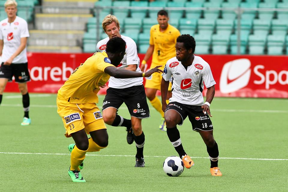 Mahatma Otoo scored a brace for Sogndal