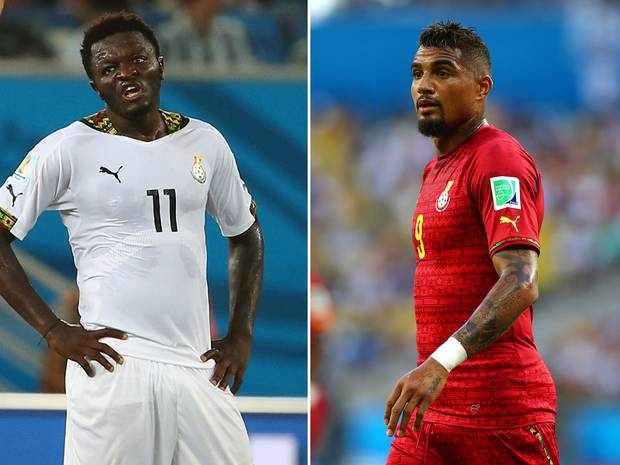 Muntari and Boateng are serving indefinite bans from the Black Stars
