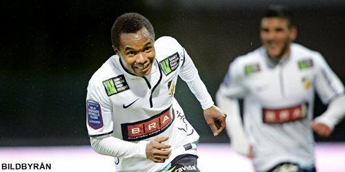 Nasiru Mohammed netted a hat-trick for BK Hacken