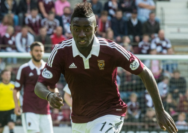 Ghanaian forward Prince Buaben makes injury return in Hearts' 2-1 away win over Ross County