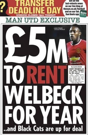 Transfer gossip: Man Utd to loan out Welbeck for £5m, Arsenal want Falcao - Negredo, Hernandez, Campbell