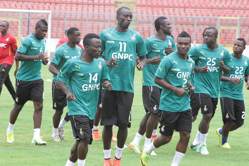 Yaw Frimpong training with the Black Stars