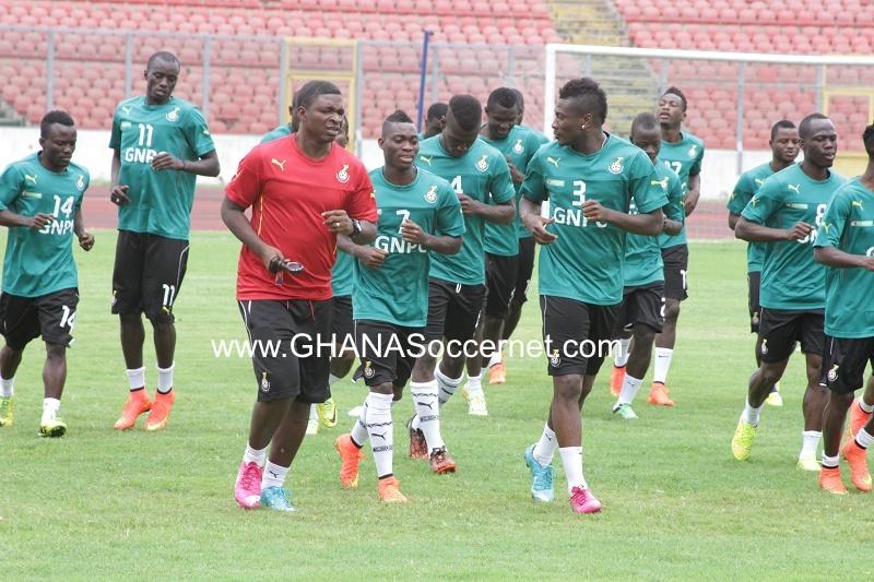 Black Stars training at the Baba Yara Stadium.