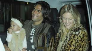 Falcao and Man U teammates party with Chinese meal