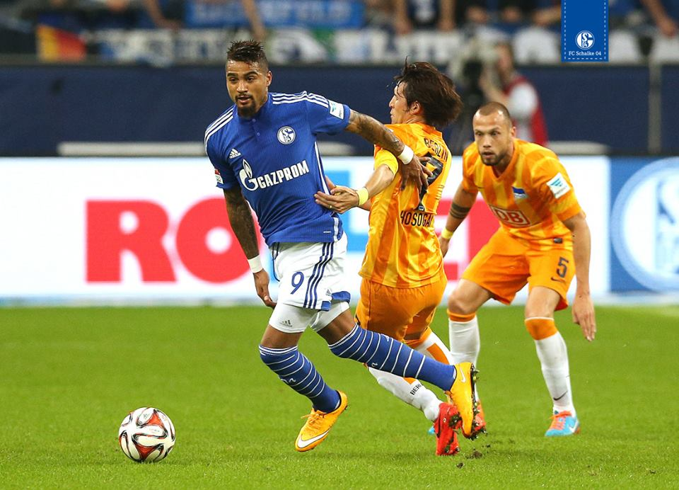 Kevin Boateng is out of Schalke's clash with Bayer Leverkusen