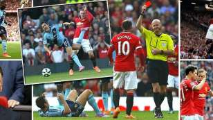Man United 2 West Ham 1: Rooney sees red