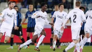 Amartey celebrates the wonder strike he scored for his Danish club