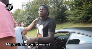 Sulley Muntari in violent rage at television presenter in Italy - 'I will break your face'