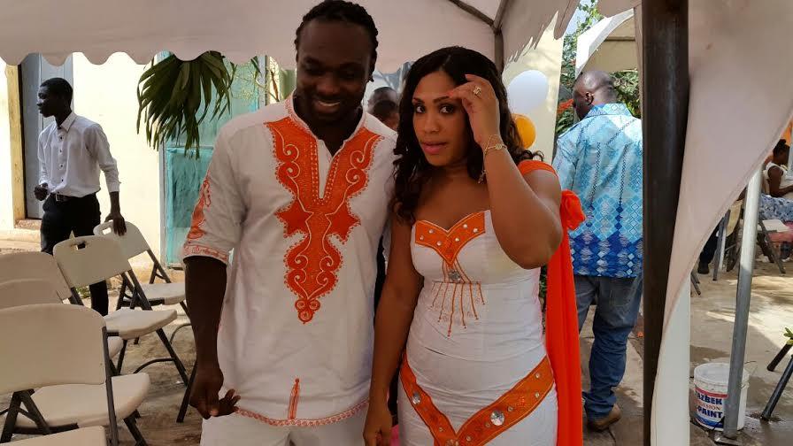 REVEALED: Meet the new wife of ex Ghana captain John Mensah
