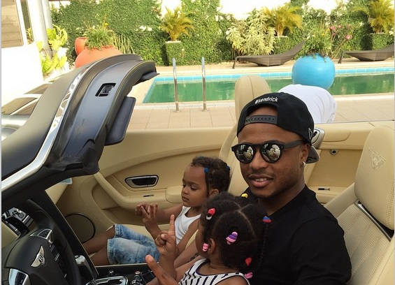 Andre Ayew in town spending time with his family