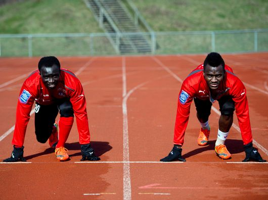 Ema Boateng, left, and Accam were the most raceful of players at Helsingborg