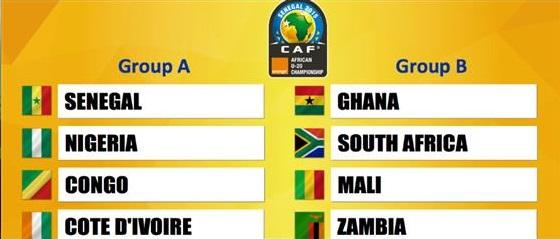 Ghana is in Group B with SA, Zambia and Mali