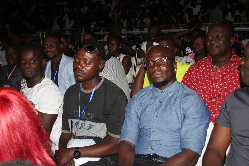 Ex Ghana captain Stephen Appiah was at ring side