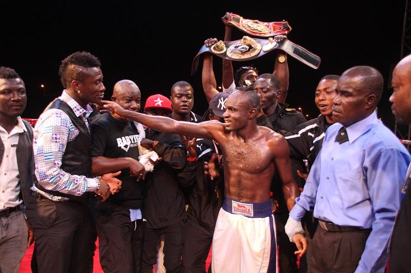 Asmaoah Gyan's lead boxer Emmanuel Tagoe secured a KO victory